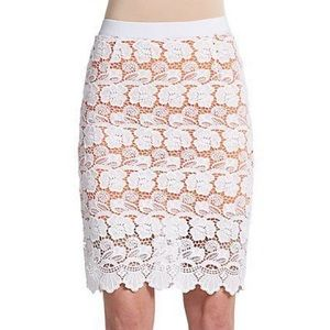 Rebecca Minkoff Lace Overlay Pencil Skirt - Size 2